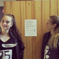 Anna ja Minni osallistuvat tänään #tanssilukio'n pääsykokeeseen. Onnea matkaan heille ja kaikille muillekin hakijoille! #vaskivuori #vaskis