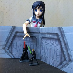 Ayase Prepares for Star Wars Day (Sasha's Lab) Tags: school girl toy star high uniform day action luke may 4th teen darth figure wars sailor vader fourth skywalker ayase fuku aragaki jfigure goodsmilecompany figma oreimo