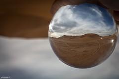 Come Sopra Cos Sotto (Algol69) Tags: sky reflection clouds ball desert crystal morocco sphere cielo marocco deserto riflesso sfera