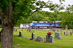Starry Morning (H-bob-omb) Tags: city railroad music cemetery train star nashville tennessee mount commuter locomotive passenger juliet eastern 155 122 emd f40ph nerr nrtx