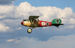Albatross D.Va replica ZK-TGY operational conversion flying at Stow Maries (kitmasterbloke) Tags: vintage germany flying outdoor aircraft aeroplane german ww1 essex biplane albatross dva stowmaries