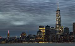 Manhattan skyline from Ellis Island (rafaelpuerto) Tags: nyc longexposure ny newyork manhattan worldtradecenter esb hudsonriver empirestatebuilding wtc 18200 ellisisland longexpo rafaelpuerto