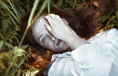 Secrets (alexandra_bochkareva) Tags: red girl face female hair fire russia redhead fairy freckles feelings helios freckled
