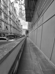 Vanishing Point (Wormsmeat) Tags: london londonstreetphotography royalhorseguardshotel panasonic dmcgm5 vanishingpoint pavement scaffold