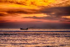 Beauty of Cox'bazar (Shah Md Maruf Sun) Tags: ocean sunset sky cloud beach water skyline coast landscapes boat seaside outdoor dusk shore vehicle serene bangladesh seabeach coxsbazar coxbazar beautyofnature beautyfulbangladesh