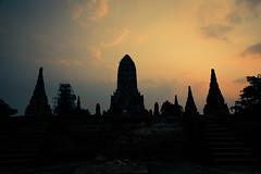 Ayutthaya, Wat Chai Wattanaram at sunset (slimaly) Tags: travel abandoned silhouette thailand ruins silhouettes sunsets temples ayutthaya ancientruins