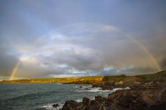 Ireland - Rainbow on a Rainy Sky (Benjamin PREYRE Photography) Tags: light sky cloud color beach rain rock sunrise landscape rainbow nikon lumire pierre couleurs pluie ciel nikkor fx nuage paysage plage arcenciel leverdesoleil d600 24x36 1835mm preyre benjaminpreyre