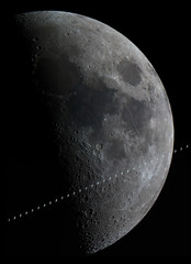 ISS Moon Transit 6/11/2016 (zAmb0ni) Tags: sky moon station night space astrophotography astronomy iss celestron asi120mc