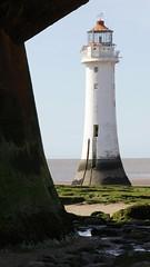 New Brighton Lighthouse (cathbooton) Tags: sea lighthouse beach rocks outdoor balcony ladder framing canoneos wirral newbrighton merseyside canonusers