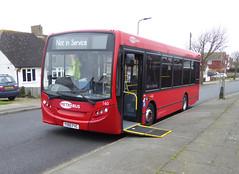 GAL MB 160 - YX60FVC - NSF - SOMERDEN ROAD - TUE 15TH MAR 2016 (Bexleybus) Tags: london ahead go 200 dennis enviro metrobus 160 adl orpington goahead yx60fvc