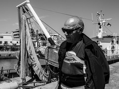 No thoughts (DanieleS.) Tags: street portrait people bw sun white black rome roma monochrome sunglasses wow photography mono harbor photo spring amazing cool strada day shot good great sunny bn di streetphoto fotografia dannyboy bianco nero fiumicino daniele 2016 salutari ilovedannyboy