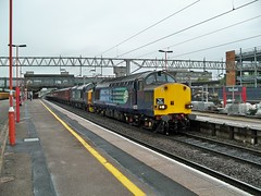 DRS 37069 & 218 at Stafford 29-5-2010 (skodatrainz) Tags: drs directrailservices class37 stafford station charter 37069 37218