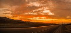 La carretera ardiente. (Daniel Fotografia :)) Tags: light sunset red sky orange naturaleza sun luz sol nature yellow atardecer rojo camino carretera per cielo nubes desierto exit cerros infinito piedras anaranjado airelibre viru lalibertad