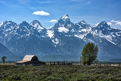 In the Valley (redfishsuefish) Tags: barn nationalpark historic wyoming teton tetons grandteton oldbarn grandtetonnationalpark mormonrow historicbarn