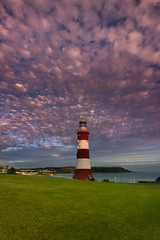 Smeaton's tower cloudscape (snowyturner) Tags: sea portrait sky lighthouse clouds evening plymouth hoe altocumulus