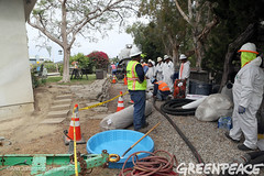 Staging for Oil Spill Clean Up (Greenpeace USA 2016) Tags: oil spill pipeline fossilfuel ventura california pollution cleanup crude ca usa