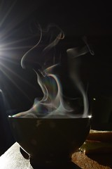 Caf chaud (bonnaudthomas) Tags: coffee caf breakfast bowl bol vapeur