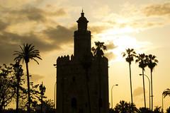 Recuerdos de Sevilla (MAMI EVA) Tags: contraluz atardecer sevilla torre verano