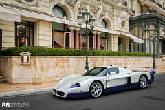 Maserati MC12 (Raphal Belly Photography) Tags: blue white paris france cars car canon de french photography eos hotel automobile riviera photographie south voiture casino montecarlo monaco bleu mc belly 7d carlo 12 monte bianca blanche raphael bianco blanc luxury rb supercar mc12 maserati spotting bleue supercars raphal principality principaut 98000