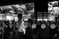 Open Spaces (Places, Faces) Tags: reflections britain bw blackandwhite building sky skyline people silhouettes london mono monochrome peoplewatching perspective juxtaposition composition compo candid capture city cityscape robmchale street streetphotography streetscene streetphoto streets urban urbanstreets england viewpoint architecture