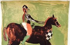Francisco Toledo Color Lihtograph Jockey Horse Oaxaca (artnoy) Tags: artnoygalnum9497 franciscotoledo prints color lihtograph jockey