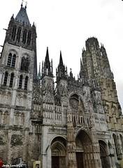 Rouen - Cathédrale Notre-Dame de Rouen (JeanLemieux91) Tags: rouen hautenormandie normandie france juin junio june 2016 printemps primavera spring pluie lluvia rain église iglesia church catholic catholique católico cathédrale catedral cathedral sé clocher