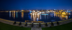 Saluting Battery - Valletta, Malta - Travel photography (Giuseppe Milo (www.pixael.com)) Tags: city longexposure travel light sea sky cliff sun seascape motion architecture night landscape geotagged photography lights photo europe fuji mt battery malta fujifilm onsale ultrawide paola cannons valletta saluting vittoriosa birgu fujix xe2 ilbeltvalletta fuji14 fuji14mm fujixe2