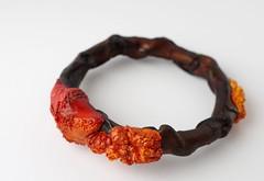 Seafire (Primatoide) Tags: sealife polymerclay bracelet bangle barnacle