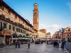 Piazza Erbe (DBP Harrison) Tags: italy holiday olympus verona omd uwa 2015 ultrawideangle em5 918mm