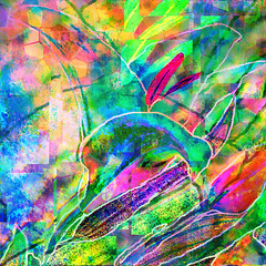 If Braque Had Painted Asian Lilies (virtually_supine) Tags: abstract texture photomanipulation digitalart creative layers digitalmanipulation cubism hss vividcolours fauvism asianlilies pse9 happysliderssunday photoshopelements9 pse9effectsstainedglasstilesoffset tmichallengeinthestyleof…braquefeiningerleger imitatinggeorgesbraque