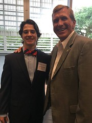 Senator with West Monroe High School senior Nick Sanders who was a finalist for the Louisiana High School Student of the Year in Baton Rouge Wednesday night.