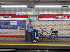 CambridgeBike@Central (fotosqrrl) Tags: cambridge urban station bicycle subway t massachusetts platform streetphotography mbta redline centralsquare