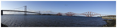 Forth Bridges from South Queensferry (The Anti-Sharpness League) Tags: road bridge scotland edinburgh fife south north forth queensferry jadmor