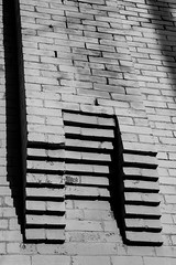 Abstract Brick Art (Mr. Low Notes) Tags: old blackandwhite bw abstract building monochrome architecture vintage tn artistic americana smalltown madisonville 70d