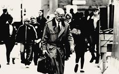 The City XV (Josh Rokman) Tags: street city portrait people blackandwhite bw monochrome boston walking downtown candid crowd grain streetphotography highcontrast streetportrait streetphoto peoplewalking nikond7000