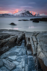 sunrise - haukland beach (christian.denger) Tags: norway sunrise canon eos long exposure lofoten 1635 haukland 1635mmf4l