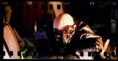 The apocalypse under my house... (Andy Keys) Tags: panorama film set analog dark tv xpro fuji mask crossprocess apocalypse bald panoramic gas velvia conceptual expired mixedlighting sprocket sunpak 622