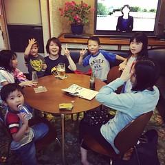 志津香ちゃんと奈津子さん&キッズがしょうぶ湯♨に入りに来てくれました(^^)
