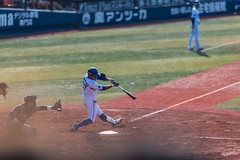 good hit (ken_tsuda) Tags: sports japan lens prime nikon baseball zoom telephoto tigers f2 yokohama batting 55 kota hanshin 200mm    15thmay kentsuda baysters 20160515hbaseball8026