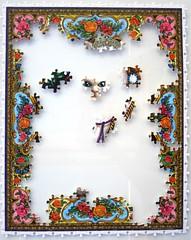 Majestic Cat /Lewis T. Johnson) (Leonisha) Tags: puzzle unfinished jigsawpuzzle