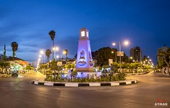 Wonderful Port Fouad l   (Ayman Abu Elhussin) Tags: road street old city light wild art history tourism architecture night speed square landscape lights town cityscape shot outdoor egypt bluesky clean midtown portsaid arab palmtree welcome longshutter marketsquare ayman   2016                  portfouad    portfuad    aymanabuelhussin