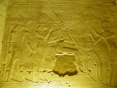 Abydos, Seti I Temple, Second Hypostyle Hall, north wall, last scene (dr.heatherleemccarthy) Tags: sculpture monument stone architecture writing temple hall ancient stonework text egypt relief horus seti isis osiris hieroglyphs deities maat abydos hypostyle ramesside