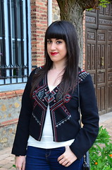 embroidered jacket (El Bal de Raquel) Tags: beautiful fashion vintage style retro jacket redlips boho embroidered bordados chaqueta etnic bordada ootd