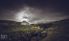 The Cottage (ianbrodie1) Tags: old longexposure wild sky cloud white abandoned outdoors stream alone cottage secluded bothy