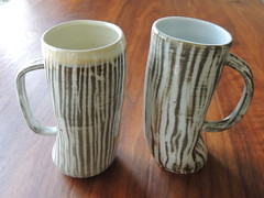 Mia Kunyo Beer Steins (Mia Kunyo) Tags: white game cup beer coffee modern ceramics day handmade rustic clay gift mia mug etsy viking stein porcelain fathers thrones tankard dayg kunyo