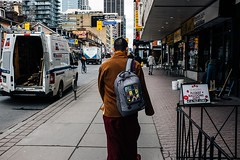 Play Hard (Dominic Bugatto) Tags: toronto downtown streetphotography yongestreet buddhistmonk 2016 torontotopography fujifilmx100s