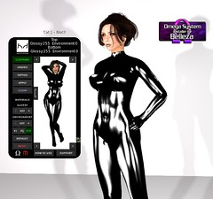 True Genius (alexandriabrangwin) Tags: world new black computer 3d graphics shiny technology mesh body omega rubber glossy secondlife virtual latex universal hud exclusive materials polished belleza catsuit cgi ilana debevec applier hugosdesign alexandriabrangwin thinkkink