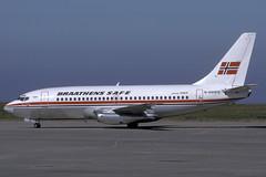N890FS-1-EGJJ-JUN1989 (Alpha Mike Aviation Photography) Tags: jer jersey boeing 737 boeing737 braathens egjj braathenssafe n890fs