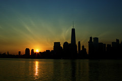 Sunrise - NYC Skyline (allendc33) Tags: sunrise nycskyline libertystatepark