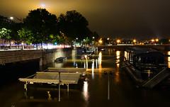 Crue de la Seine 2016 - Paris, berges rives gauche (EclairagePublic.eu) Tags: paris seine flooding eau tour flood lumire eiffel berge quai inondation lampadaire naturelle catastrophe crue luminaire candlabre